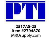PTI 2517AS-28 TAPERED BUSHING METRIC -ANSI TB1- TAPER BUSHING