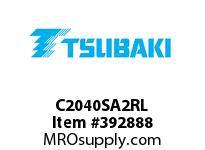 US Tsubaki C2040SA2RL C2040 SA-2 ROLLER LINK