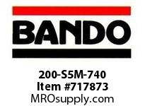 Bando 200-S5M-740 SYNCHRO-LINK STS TIMING BELT NUMBER OF TEETH: 148 WIDTH: 20 MILLIMETER