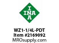 INA WZ1-1/4L-PDT Linear shaft precision