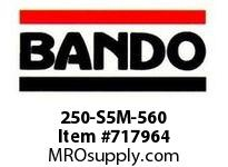 Bando 250-S5M-560 SYNCHRO-LINK STS TIMING BELT NUMBER OF TEETH: 112 WIDTH: 25 MILLIMETER