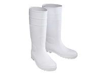 West Chester 8325/12 16^ White PVC Plain Toe Boot. Over the sock Style