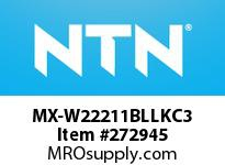 NTN MX-W22211BLLKC3 SEALED SPHERICAL ROLLER INSERT