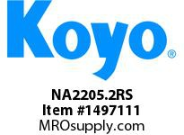 Koyo Bearing NA2205.2RS NEEDLE ROLLER BEARING TRACK ROLLER ASSEMBLY