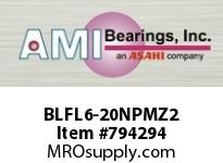 AMI BLFL6-20NPMZ2 1-1/4 ZINC NARROW SET SCREW NICKEL FLANGE SINGLE ROW BALL BEARING