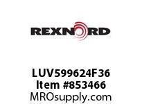 REXNORD LUV599624F36 LUV5996-24 F3 T6P LUV5996 24 INCH WIDE MATTOP CHAIN W