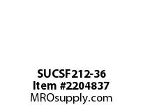 PTI SUCSF212-36 SS 4-BOLT FLANGE BEARING-2-1/4 SUCSF 200 SILVER SERIES - NORMAL DU