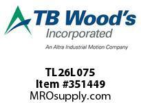 TBWOODS TL26L075 TL26L075 1210 TIM PULLEY