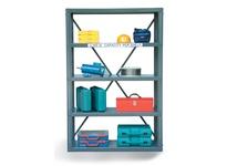 StrongHold 2448-72 12 GA Steel Open Shelving Unit 48x24x72 5 Shelves