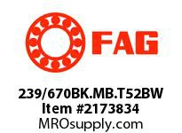 FAG 239/670BK.MB.T52BW DOUBLE ROW SPHERICAL ROLLER BEARING