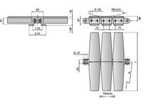 System Plast 11542G XPG1873SS-K1200 SYS CHAIN STEEL 2 PC