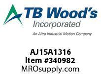 TBWOODS AJ15A1316 AJ15-AX1 3/16 FF COUP HUB