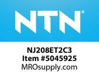 NTN NJ208ET2C3 CYLINDRICAL ROLLER REARINGS CYLINDRICAL ROLLER BEARING