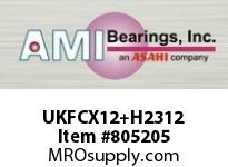 AMI UKFCX12+H2312 55MM MEDIUM WIDE ADAPTER PILOTED FL SINGLE ROW BALL BEARING
