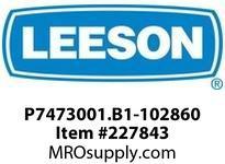 LEESON P7473001.B1-102860 GEARMOTOR 564 IN-LBS @ 52 RPM TEFC 3PH 230/460V AC