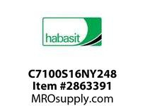 Habasit C7100S16NY248 7100K0248 Sprocket 16T Machined Nylon