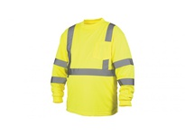 Pyramex RLTS3110X2 Hi-Vis Lime Long Sleeve T-Shirt - Size 2X Large