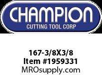 Champion 167-3/8X3/8 4 FL DE SOLID CARBIDE END MILL
