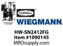 WIEGMANN HW-SN2412FG DS1/4THGY24.00X12.87X11.33