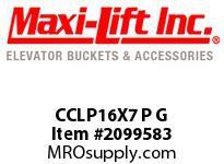 Maxi-Lift CCLP16X7 P G CC-MAX LOW-PROFILE POLYETHYLENE ELEVATOR BUCKET