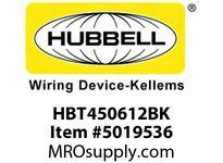 HBL_WDK HBT450612BK WBPREFORM RADI 45 6^Hx12^W BLACK