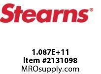 STEARNS 108700200012 BRK-RL TACH MACHSPLN HUB 8001986