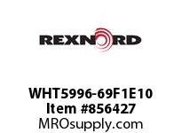 REXNORD WHT5996-69F1E10 WHT5996-69 F1 T10P WHT5996 69 INCH WIDE MATTOP CHAIN W