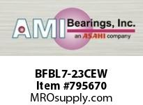 AMI BFBL7-23CEW 1-7/16 NARROW SET SCREW WHITE 3-BOL BS SINGLE ROW BALL BEARING
