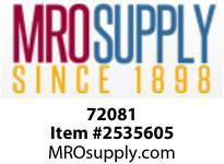 MRO 72081 3/4 X 1-1/2 SC80 BLACK SEAMLESS