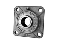 PTI SUCSF207-35MM SS 4-BOLT FLANGE BEARING-35MM SUCSF 200 SILVER SERIES - NORMAL DU