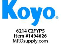 Koyo Bearing 6214 C2FYP5 SINGLE ROW BALL BEARING