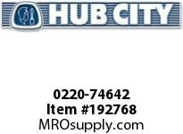 HUBCITY 0220-74642 120M 1/1 B SP 10^ BEVEL GEAR DRIVE