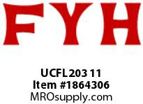 FYH UCFL203 11 FLANGE UNIT-NORMAL DUTY SETSCREW LOCKING