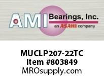 AMI MUCLP207-22TC 1-3/8 STAINLESS SET SCREW TEFLON LO BLOCK SINGLE ROW BALL BEARING