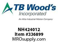 TBWOODS NH424012 NH4240X1/2 FHP SHEAVE