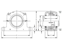 TIMKEN SAF 23044KX7 13/16 SRB Pillow Block Assembly