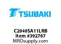 US Tsubaki C2040SA11LRB C2040 RIV 1L/SA-1
