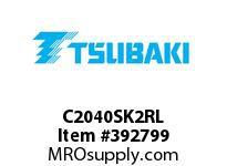 US Tsubaki C2040SK2RL C2040 SK-2 ROLLER LINK