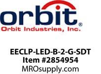 Orbit EECLP-LED-B-2-G-SDT LED TUBE EMER & EXIT COMBO BLK HSG2FGN LTRS SELF DIAG