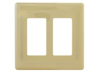 HBL_WDK NPS262I WALLPLATE 2G DEC SNAP-ON IVORY