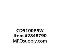 CPR-WDK CD5100P5W Plug Pin&Slv 100A347/600V 3PH 4P5W WT BK