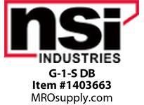 NSI G-1-S DB DIRECT BURIAL BRONZE GROUND CLAMP 1/2^ - 1^ CONDUIT 2 STR GROUND WIRE MAX