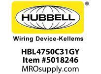 HBL_WDK HBL4750C31GY RACEWAY 31^ COVER HBL4750 SER GY