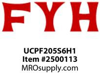 FYH UCPF205S6H1 25MM ND SS PRESSED STEEL W STAINLESS INS