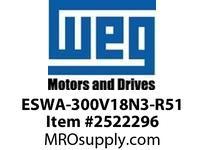 WEG ESWA-300V18N3-R51 FVNR 250HP/460V T-A 3R 120V Panels