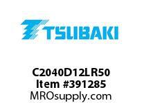 US Tsubaki C2040D12LR50 C2040 RIV 2L/D-1 50 FT