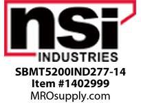NSI SBMT5200IND277-14 SHOEBOX MED TYPE V REFLECTOR 200W INDUCTION 277V 14^ ARM