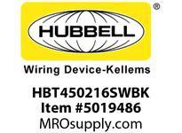 HBL_WDK HBT450216SWBK WBPRFRM RADI 45 2Hx16W BLACKSTLWLL