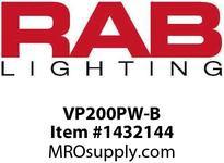 RAB VP200PW-B VAPORPROOF 200 PENDANT 1/2 BLACK WITH WHITE PERMA GLOBE