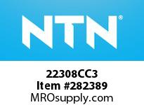 NTN 22308CC3 SPHERICAL ROLLER BRG